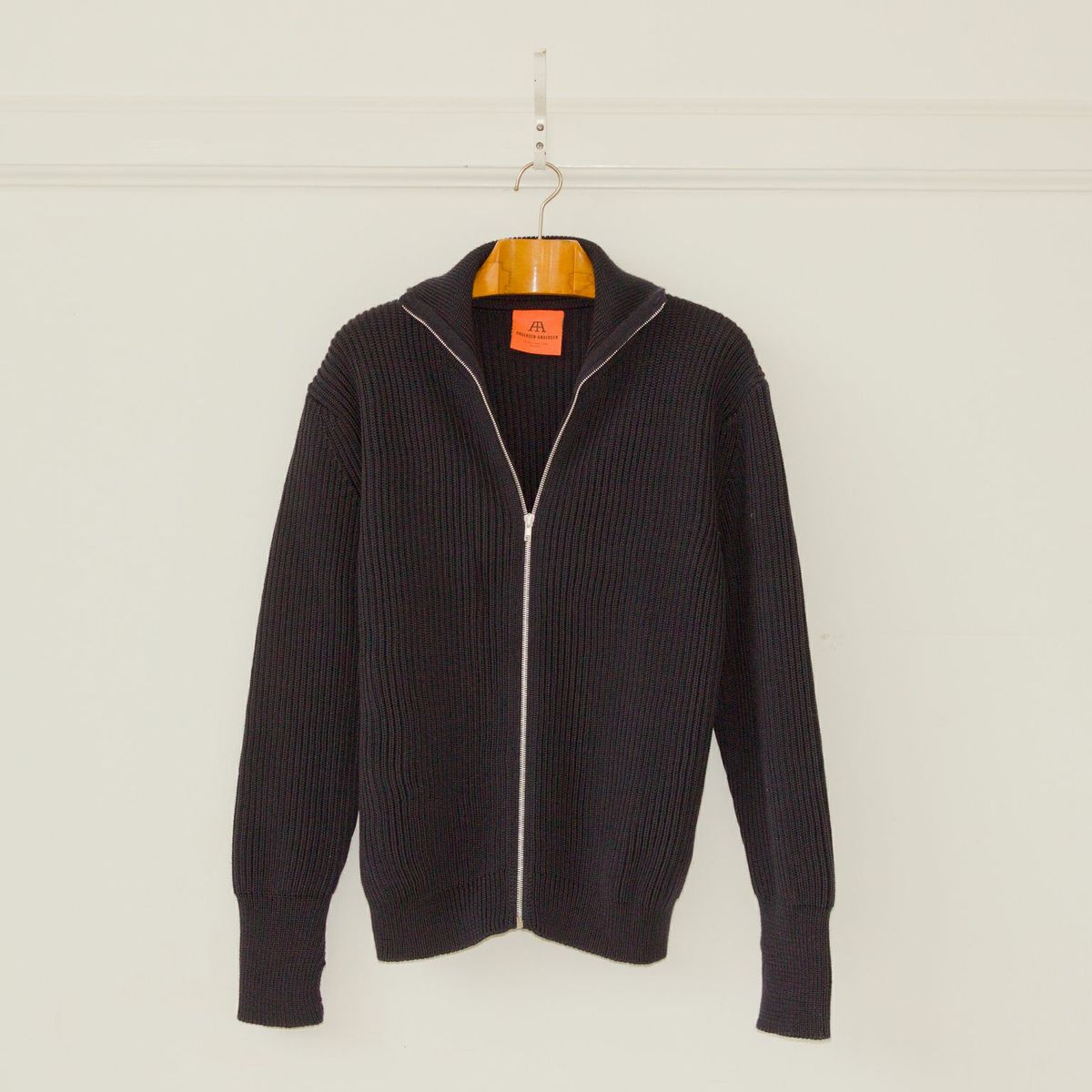 Navy Full Zip - blå kofta med dragkedja